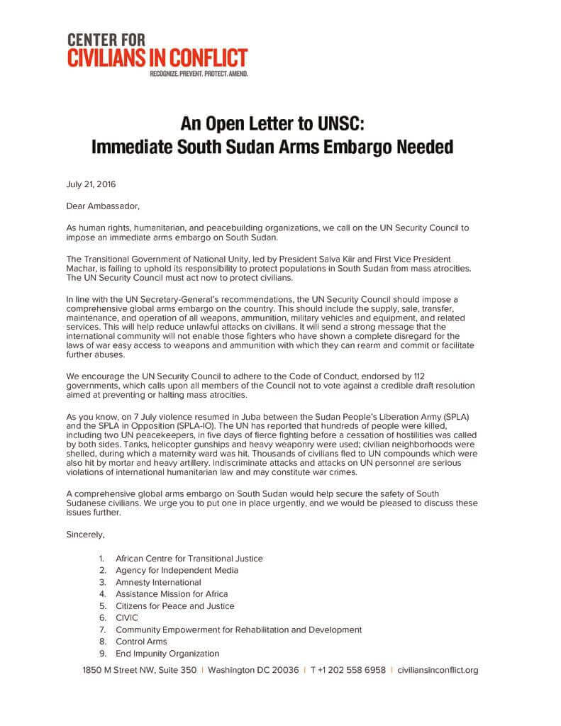 thumbnail of ExternalLink_An_Open_Letter_to_UNSC_on_South_Sudan_Arms_Embargo
