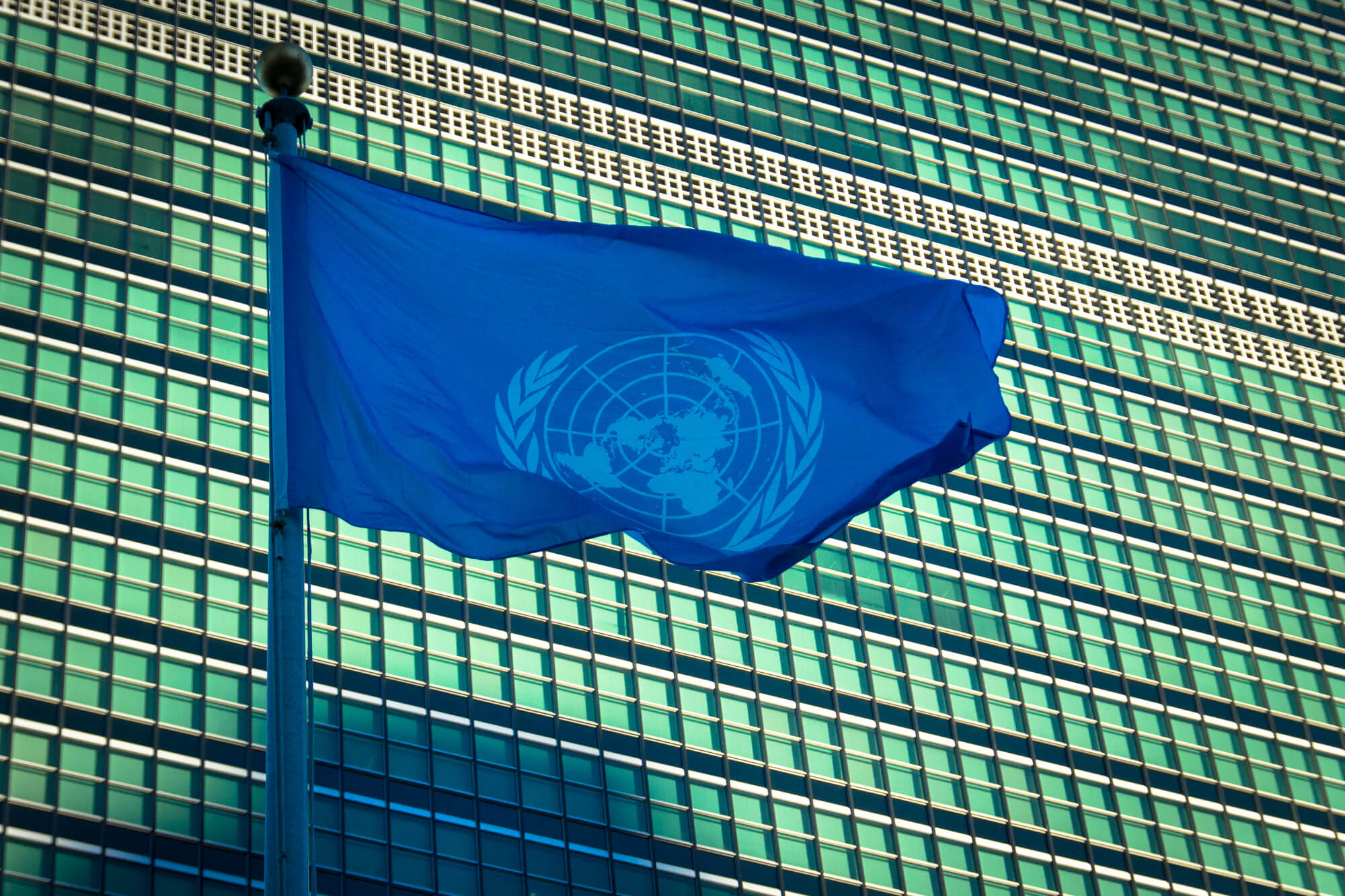 Sahr Muhammedally addresses a UN committee on explosive weapons in cities