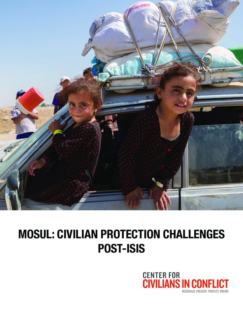 thumbnail of FINAL_Mosul:CIVProtectChallengesMay2018