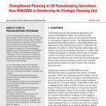 thumbnail of Strengthened Planning in UN Peacekeeping Operations